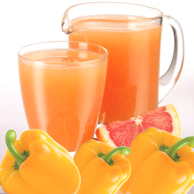 Grapefruit and Yellow Pepper juice
