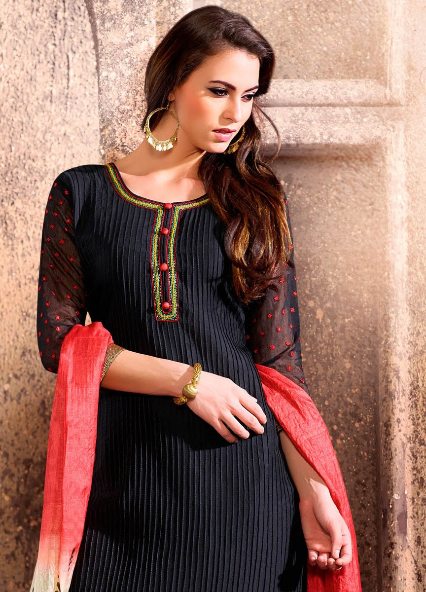 New Indian Black Silk Suit