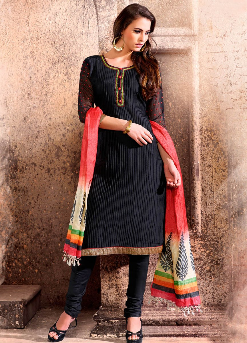 Black Kora Silk Suit