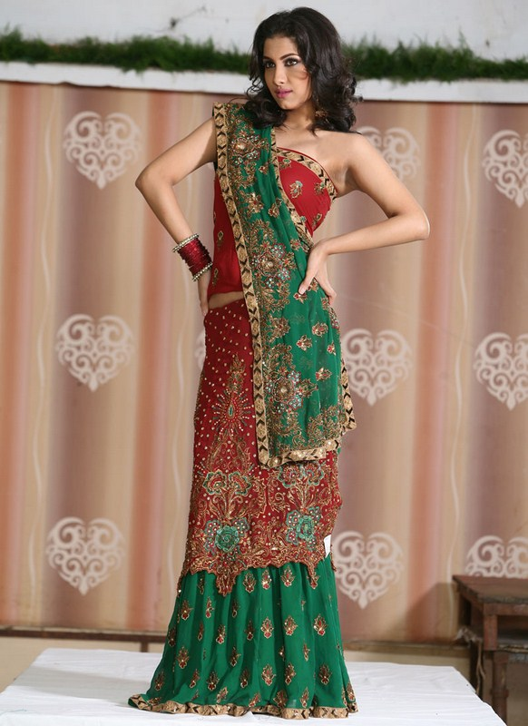 Latest New Indian Sarees Style 2014-2015