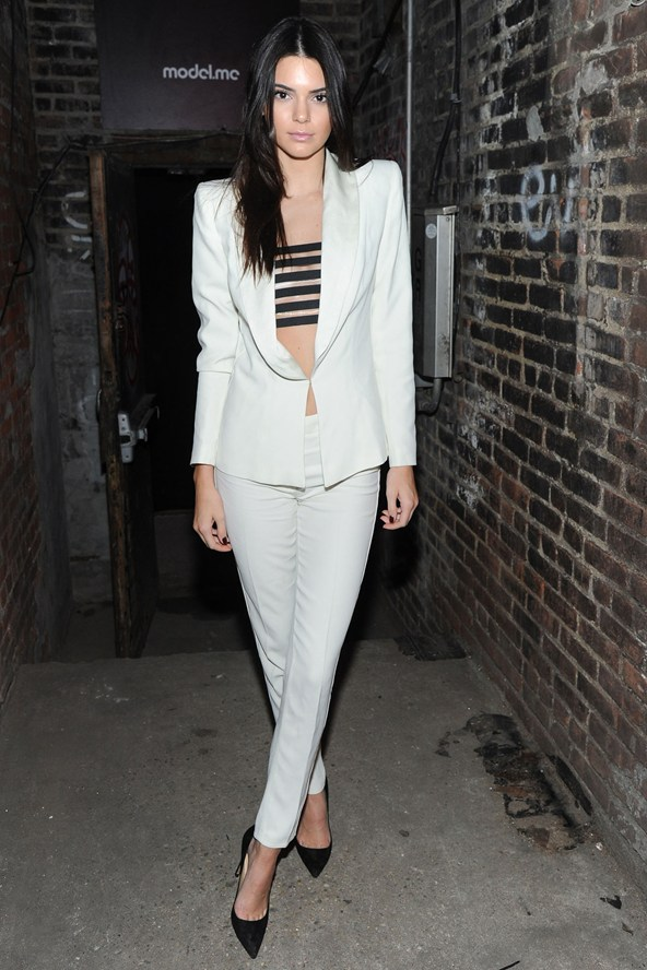 gorgeous white trouser suit