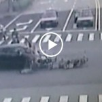 Car Accident With Chinese Bike Crash Caught on Camera