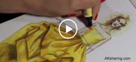 Drawing Training Video of Silk Taffeta Dress