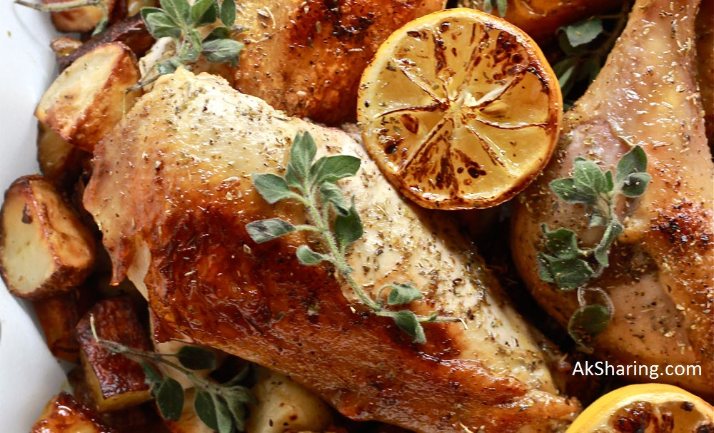 Olive Grilled Chicken With Lemon